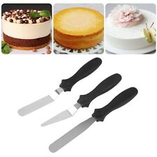 3pcs Stainless Steel Cake Angled/Straight Spatula Smooth Decorating Tools BE
