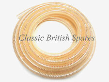 "1/4"" ID Clear Braided Fuel Gas Line Hose 5' Triumph BSA Norton AJS CBS-73018"
