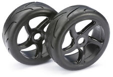 1/8 Buggy 17mm Hex  Black Wheels With Road / Street Tyres 2pcs 2530001 Absima