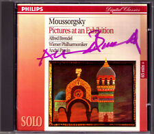 Alfred BRENDEL Signiert MUSSORGSKY Pictures at an Exhibition CD Andre PREVIN