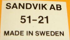 """10 x Sandvik 21""""533mm Quality Bowsaw Blade Peg Tooth Made In SWEDEN 51-21 Bahco"""