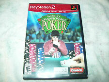 World Championship Poker  (Sony PlayStation 2, 2004)  GH    COMPLETE