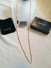 """Joan Rivers classic textured bead 44"""" necklace rose tone"""