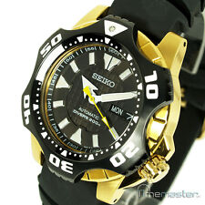 SEIKO SUPERIOR PRO DIVERS 200m RUBBER STRAP BLACK FACE STARFISH SKZ286K1