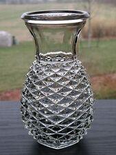 Vintage FTD 80's Pineapple Diamond Point Forcing Bulb Vase Hexagon Base