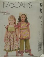 M6062 New McCall's Easy Girls Fashion Sewing Patterns For Sizes 6, 7, 8