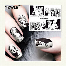 YZW-8486 FULL NAIL ART STICKERS DIY WATER TRANSFER WRAPS MANICURE DECAL WOMENS