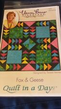 "NIP ELEANOR BURNS SIGNATURE QUILT IN A DAY ""FOX & GEESE "" PATTERN INTERMEDIATE"