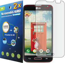 2x Clear LCD Screen Protector Shield Film LG Optimus L70 D325 MS323 / LG Pulse