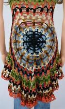 Vtg 1970's Charlie's Girls HiPPiE BoHo Crocheted Woodstock Mandala Sweater Vest