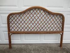 Trellis Bamboo QUEEN Size Headboard Rattan Hollywood Regency Tropical Cottage
