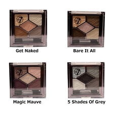 JOB LOT 4 x W7 silky eyes eye shadow in 2 x bare it all & 2 x get naked - 4.5g..