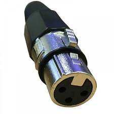 UKDJ 3 Pin XLR Female Socket with Solder Terminals & Cable Protector 3PIN