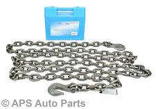 New Heavy Duty 14FT 4.2M Recovery Tow Towing Lifting Utility Farm Steel Chain