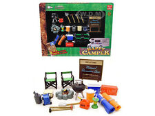 CAMPER ACCESSORIES GARAGE SET 1/24 SCALE DIECAST MODEL BY UNIQUE REPLICAS 18430