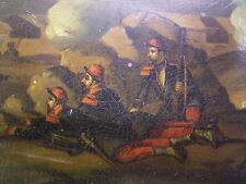 STOBWASSER-DOSE / TABATIERE 1870/71: HANDBEMALT: SOLDATEN: DEUTSCH-FRANZ. KRIEG