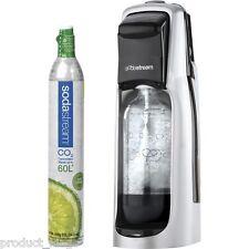 Sodastream Megapack Jet Black Carbonating Drinksmaker Gas+ 2 Flavours Value Pack