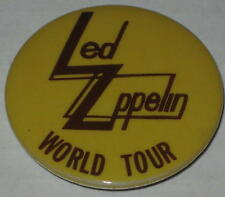 "Led Zeppelin World Tour Pin 1.75"" - Original"