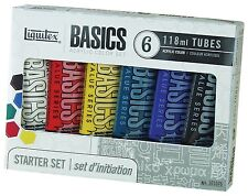 Liquitex Basics Acrylic Paint Tube 4 oz, 6-Piece Set (6 Starter Set) 101076 New