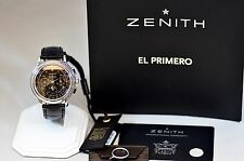 ZENITH CHRONOMASTER TRIPLE DATE MOONPHASE 01.0240.410 BLACK DIAL WATCH W/ PAPERS