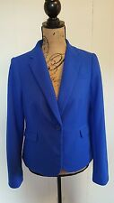 The Limited Sz M Blazer Jacket Royal Blue Button Lined Career