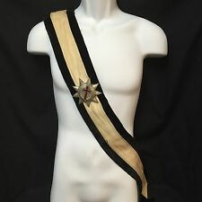 Antique Knights Templar Sword Sash Ceremonial Baldric Regalia Pettibone Bros