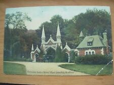 VINTAGE POSTCARD CANADA - MOUNT ROYAL CEMETERY ENTRANCE MONTREAL Ref 2082