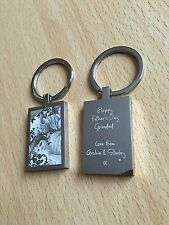 PERSONALISED RECTANGLE KEYRING ENGRAVED WITH PHOTOGRAPH & TEXT
