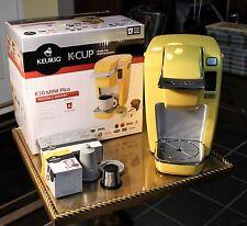 KEURIG K-Cup Single Brewing System K10 Mini Plus Yellow Electric Coffee Maker