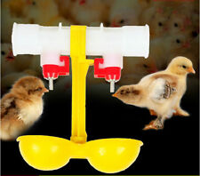 Twin Cups Fowl Poultry Water Drinking Cups Hen Chicken Automatic Drinker Feeder