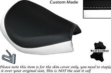 WHITE & BLACK CUSTOM FITS KINROAD XT 125 16 FRONT LEATHER SEAT COVER ONLY