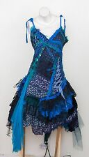 Naturally Bohemian Fairy Goth Shabby Chic Lace Blue Black Dress Lolita Cosplay