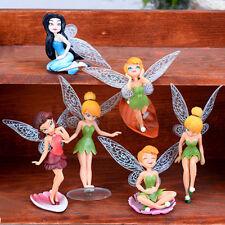 Flower Fairy Pixie Women Fly Wing Family Miniature Dollhouse Ornament 6Pcs Toys