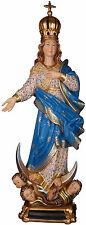 "STATUA Madonna Immacolata cm.23 LEGNO  - OUR LADY of Grace 9,05""  WOODCARVING"