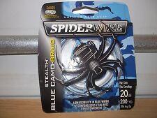 Spiderwire Stealth Blue Camo Braid 20 lb test 200 yards NIP