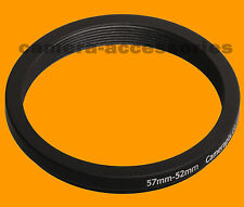 57mm to 52mm 57-52 Stepping Step Down Filter Ring Adapter 57-52mm 57mm-52mm