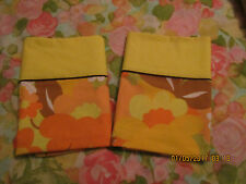 Vintage Wabasso Pillowcases made from a sheet, excellent color, crisp fabric.