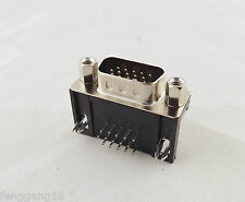 VGA DB15 15-Pin D-SUB 3 Rows Male Right Angle PCB Solder Cable Connector Adapter