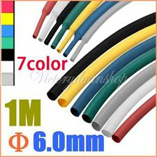 "1/4"" 1M 6.0MM Colorful 2:1Polyolefin Heat Shrink Tubing Tube Sleev Sleeving Wrap"