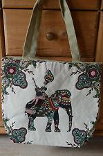 XXL Gobelin Tasche ♥ große Einkaufstasche ♥ Sporttasche Shopper Elefant ♥