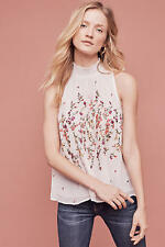 141921 New $148 floreat Anthropologie Lila Embroidered Sotra Tank Blouse Top XS