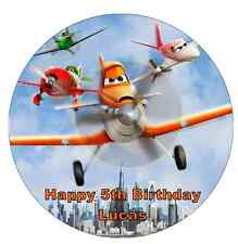 """Disney's Planes Personalised Cake Topper 7.5"""" Edible Wafer Paper Birthday Party"""