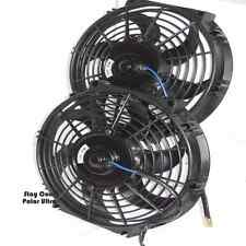 """1949-1954 Chevy Car Radiator Fans,Set of Two 10"""" Electric Cooling Fans w/Relay"""