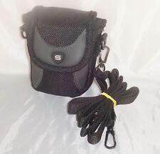 S - Camera bag [ Black ] With belt loop & strap