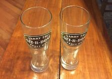 GIT-R-DONE LARRY THE CABLE GUY TALL BEER GLASSES (LOT OF 2) CUP DRINKING
