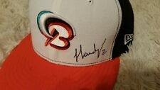 jj hardy signed game used bowie baysox hat