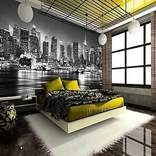 WALLPAPER PHOTO GIANT WALL POSTER DECOR ART NEW YORK CITY AT NIGHT BLACK & WHITE