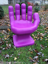 """GIANT BRIGHT Purple HAND SHAPED CHAIR 32"""" adult size 70's Retro EAMES iCarly NEW"""