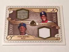 Bob Gibson / Pedro Martinez 2009 SP Legendary Cut 2-Jersey #GM-BP Cardinals/Mets