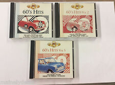 A Golden Hour of 60's Hits Vol 1 2 3 Lot of 3 Music Cd's Knight Records
